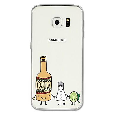 Недорогие Чехлы и кейсы для Galaxy S6 Edge-Кейс для Назначение SSamsung Galaxy S8 Plus / S8 / S7 edge С узором Кейс на заднюю панель Мультипликация / Фрукты Мягкий ТПУ