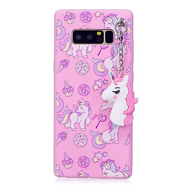 Case For Samsung Galaxy Note 8 IMD Pattern DIY Back Cover Unicorn Soft TPU for Note 8