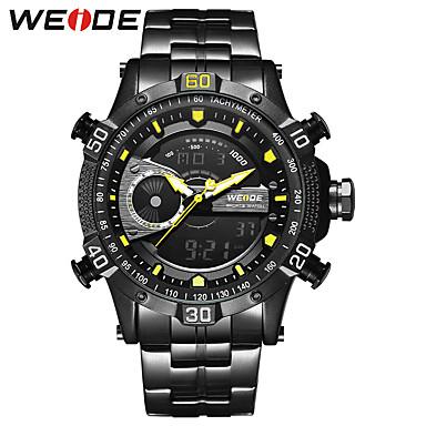 3a6e594c6ab5 WEIDE Hombre Reloj Deportivo Reloj de Pulsera Reloj digital Japonés Digital  Acero Inoxidable Negro 30 m