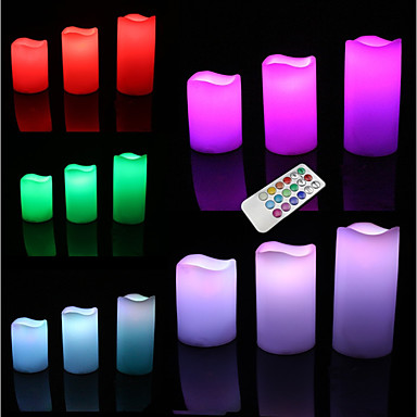 LED Lighting Toys Round Cylindrical Holiday Bulb Included Flourescent Remote Control / RC Adults' 3 Pieces