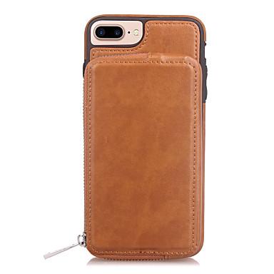 ieftine Carcase iPhone-Maska Pentru Apple iPhone X / iPhone 8 Plus / iPhone 8 Portofel / Titluar Card / Oglindă Capac Spate Mată Greu PU piele