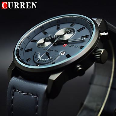 masculin ceas cuarț sport / ceas militar / încheietura ceas calendar / data / zi / creativ / rece autentic piele trupa farmec / de lux /