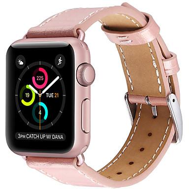Недорогие Ремешки для Apple Watch-Ремешок для часов для Серия Apple Watch 5/4/3/2/1 Apple Кожаный ремешок Натуральная кожа Повязка на запястье
