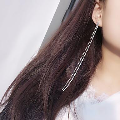 Pentru femei Ștras Diamante Artificiale Cercei Rotunzi - Personalizat / Modă Auriu / Argintiu cercei Pentru Zilnic / Casual / Club