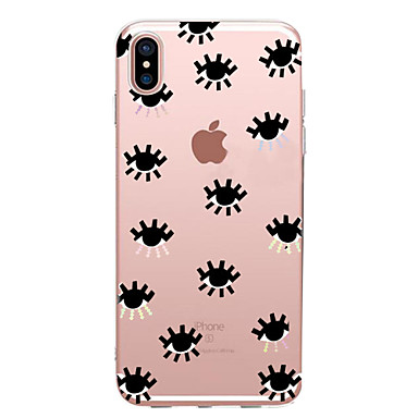 Kılıf Na Apple iPhone X iPhone 8 iPhone 6 iPhone 7 Plus iPhone 7 Ultra cienkie Wzór Czarne etui Dachówka Miękkie TPU na iPhone X iPhone 8