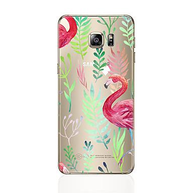 Недорогие Чехлы и кейсы для Galaxy S6-Кейс для Назначение SSamsung Galaxy S8 Plus / S8 / S7 edge С узором Кейс на заднюю панель Фламинго Мягкий ТПУ