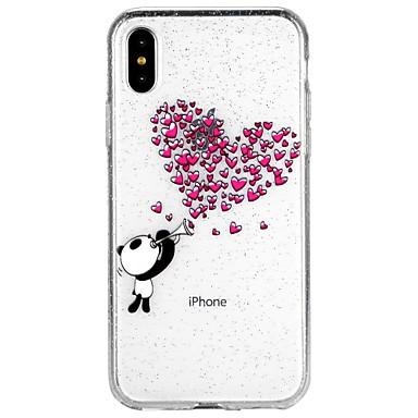 Coque Pour Apple iPhone X iPhone 8 iPhone 8 Plus iPhone 6 iPhone 6 Plus iPhone 7 Plus iPhone 7 Translucide Motif Coque Cœur Brillant