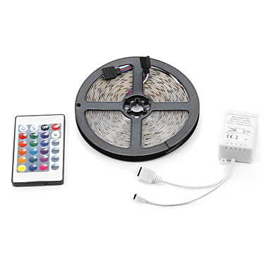 Verlichtingssets LEDs RGB Afstandsbediening Knipbaar Dimbaar Waterbestendig Kleurveranderend Zelfklevend Koppelbaar DC 12V