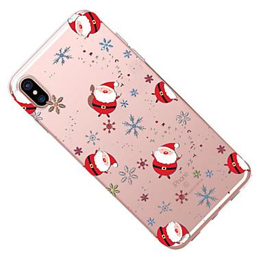 per Per disegno Morbido Natale iPhone 8 8 Custodia Apple Plus retro iPhone 8 iPhone X Fantasia Transparente Per 06429573 TPU X iPhone iPhone gA6dAwx