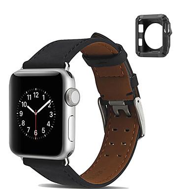 시계 밴드 용 Apple Watch Series 4/3/2/1 Apple 모던 버클 천연 가죽 손목 스트랩