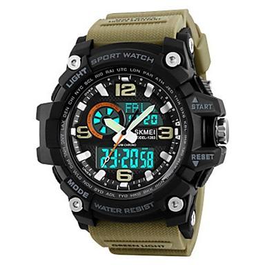 19852a5744b7b رخيصةأون ساعات عسكرية-SKMEI رجالي ساعة رياضية ساعة عسكرية ساعة رقمية ياباني  رقمي جلد اصطناعي