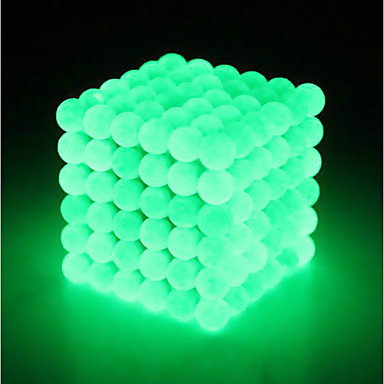 64 pcs 5mm Magnet Toy Magnetic Balls Building Blocks Super Strong Rare-Earth Magnets Neodymium Magnet Strand Magnetic Type Stress and Anxiety Relief Glow in the Dark Kid's / Adults' Boys' Girls' Toy