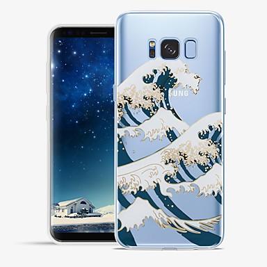 Недорогие Чехлы и кейсы для Galaxy S6 Edge-Кейс для Назначение SSamsung Galaxy S8 Plus / S8 / S7 edge С узором Кейс на заднюю панель Полосы / волосы / Пейзаж Мягкий ТПУ