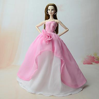 2ccc6e0c648c Šaty Šaty Pro Barbiedoll Růžová Šifon Šaty Pro Dívka je Doll Toy 6498155  2019 – €9.59
