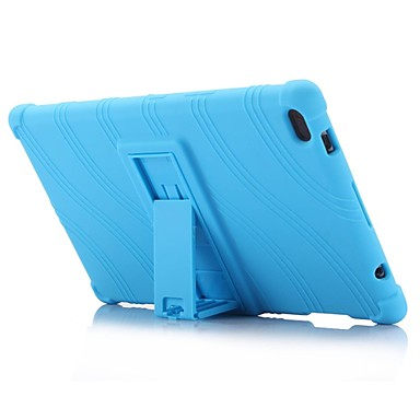 billige Tablett-etuier-bølge mønster mønster silikon gummi gel hud deksel med holder for lenovo tab 4 8 (tb-8504) 8,0 tommers tablet pc