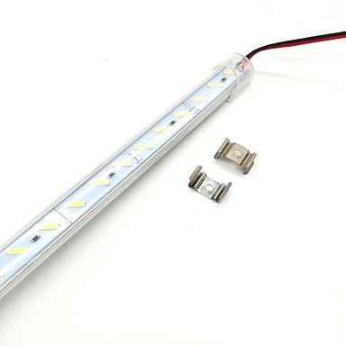 zdm 50cm 7w 36pcs 8520 smd 600-700lm ζεστό λευκό κρύο λευκό φως πάχος αλουμινίου κέλυφος σκληρή λάμπα bar (dc12v)