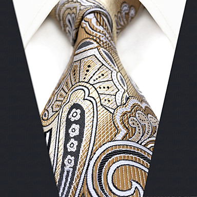baratos Roupa de Homem Moderna-Homens Trabalho / Básico Gravata Geométrica / Estampa Colorida / Jacquard