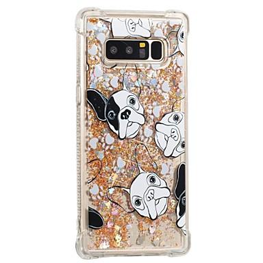 voordelige Galaxy Note-serie hoesjes / covers-hoesje Voor Samsung Galaxy Note 8 Schokbestendig / Stromende vloeistof / Patroon Achterkant Hond Zacht TPU
