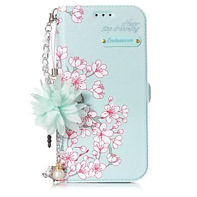 voordelige Galaxy A-serie hoesjes / covers-hoesje Voor Samsung Galaxy A3 (2017) / A5 (2017) Kaarthouder / met standaard / Flip Volledig hoesje Bloem Hard PU-nahka