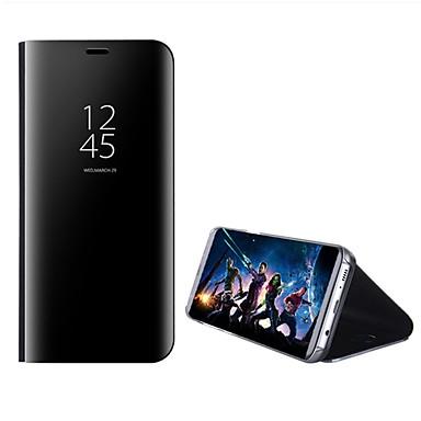 Недорогие Чехлы и кейсы для Galaxy S6 Edge-Кейс для Назначение SSamsung Galaxy S8 Plus / S8 / S7 edge со стендом / Зеркальная поверхность / Флип Чехол Однотонный Твердый ПК