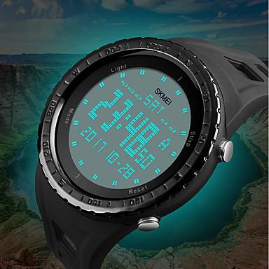 Χαμηλού Κόστους Ανδρικά ρολόγια-SKMEI Ανδρικά Αθλητικό Ρολόι Ψηφιακό ρολόι Ψηφιακή Συνθετικό δέρμα με επένδυση Μαύρο / Μπλε / Πράσινο 50 m Ανθεκτικό στο Νερό Ημερολόγιο Χρονογράφος Ψηφιακό Πολυτέλεια Καθημερινό Μοντέρνα -