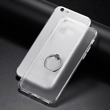 케이스 제품 Apple iPhone 6 iPhone 7 Plus iPhone 7 링 홀더 투명 뒷면 커버 한 색상 소프트 TPU 용 iPhone 8 Plus iPhone 8 iPhone 7 Plus iPhone 7 iPhone 6s Plus