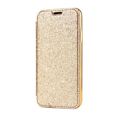 voordelige iPhone 5 hoesjes-hoesje Voor Apple iPhone X / iPhone 8 Plus / iPhone 8 Kaarthouder / Beplating Volledig hoesje Effen Hard PU-nahka