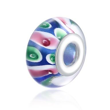 Недорогие Другие украшения-Ювелирные изделия DIY 1 штук Бусины Стекло Серебристый Цвет радуги Шарообразные Шарик 1.5 cm DIY Ожерелье Браслеты