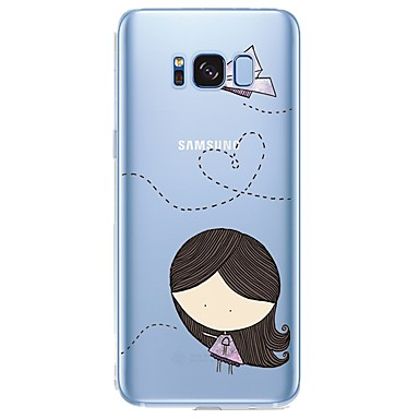 voordelige Galaxy S6 Hoesjes / covers-hoesje Voor Samsung Galaxy Patroon Sexy dame / Cartoon Zacht