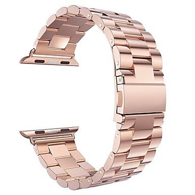 Недорогие Ремешки для Apple Watch-Ремешок для часов для Apple Watch Series 3 / 2 / 1 Apple Бабочка Пряжка Стали Повязка на запястье