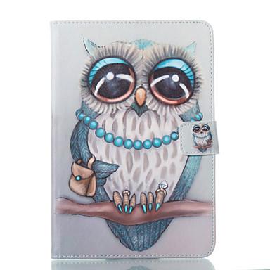 voordelige Samsung Tab-serie hoesjes / covers-hoesje Voor Samsung Galaxy Tab A 8.0 Portemonnee / met standaard / Flip Volledig hoesje Uil Hard PU-nahka