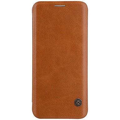 Недорогие Чехлы и кейсы для Galaxy S-Кейс для Назначение SSamsung Galaxy S9 / S9 Plus / S8 Plus Бумажник для карт / Флип Чехол Однотонный Твердый Кожа PU