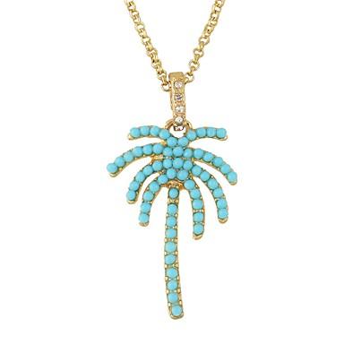 billige Mode Halskæde-Dame Halskædevedhæng Efterligningsturmalin Kokos palme Simple Basale Guld Halskæder Smykker Til Daglig Stævnemøde