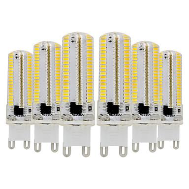 ywxlight® 6pcs g9 3014 7w 600-700lm는 bi-pin 빛을지도했다 dimmable 온난 한 백색 차가운 백색 자연적인 백색 360 광속 각자 스포트라이트 110-130v 220-240v