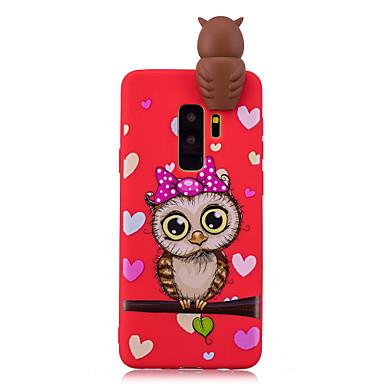 levne Galaxy S6 Pouzdra a obaly-Carcasă Pro Samsung Galaxy S9 / S9 Plus / S8 Plus Nárazuvzdorné / Vzor / Udělej si sám Zadní kryt Komiks / 3D  komiks / Sova Měkké TPU