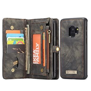 voordelige Galaxy S-serie hoesjes / covers-hoesje Voor Samsung Galaxy S9 Portemonnee / Kaarthouder / met standaard Volledig hoesje Effen Kleur Hard aitoa nahkaa