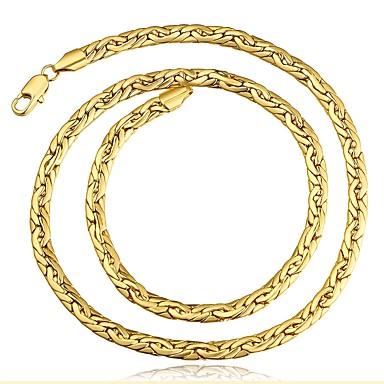 tanie Naszyjniki-Męskie Naszyjniki choker Klasyczny Złoty Różowe złoto Naszyjniki Biżuteria 1 Na Prezent Codzienny