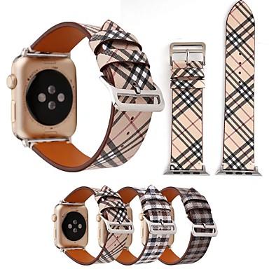 시계 밴드 용 Apple Watch Series 4/3/2/1 Apple 가죽 루프 천연 가죽 손목 스트랩