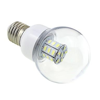 1 parça 4 w e27 led ampul kabarcık 27 smd 5730 dc / ac 12 v-24 v sıcak / soğuk beyaz için rv gemi