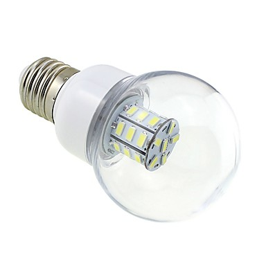 1 buc. 4w e27 bulb bulb 27 led 5730 dc / ac 12v - 24v cald / rece alb pentru nava rv