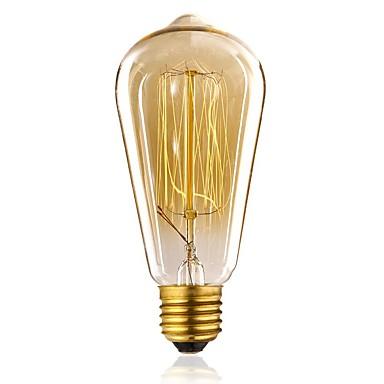 1pc 40W E27 E26/E27 ST64 Warm White 2300 K Incandescent Vintage Edison Light Bulb 110-130V 220-240V V