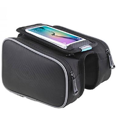 ROSWHEEL Κινητό τηλέφωνο τσάντα Τσάντα για σκελετό ποδηλάτου Αδιάβροχο Αντανακλαστικές Λωρίδες Εύκολη εγκατάσταση Τσάντα ποδηλάτου PU δέρμα Τσάντα ποδηλάτου Τσάντα ποδηλασίας iPhone X / iPhone XR