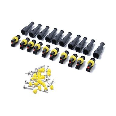 billige Gadgets og autodele-10 kits 1-polet forseglet vandtæt elektrisk ledningsstikstikket terminal bil auto sæt