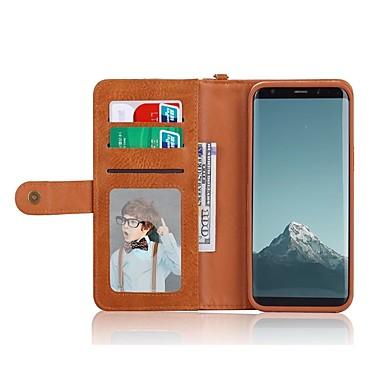 Недорогие Чехлы и кейсы для Galaxy S6-Кейс для Назначение SSamsung Galaxy S8 Plus / S8 / S7 edge Кошелек / Бумажник для карт / Защита от удара Чехол Сплошной цвет Твердый Кожа PU