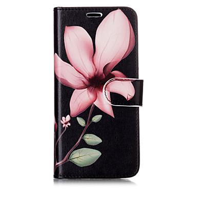 Недорогие Чехлы и кейсы для Galaxy S6-Кейс для Назначение SSamsung Galaxy S8 Plus / S8 / S7 edge Кошелек / Бумажник для карт / со стендом Чехол Цветы Твердый Кожа PU