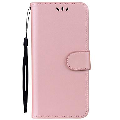 Недорогие Чехлы и кейсы для Galaxy S6 Edge-Кейс для Назначение SSamsung Galaxy S8 Plus / S8 / S7 edge Бумажник для карт / со стендом / Флип Чехол Однотонный Твердый Кожа PU
