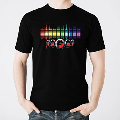 8828e28e cheap LED T-shirts-LED T-shirts Glow Pure Cotton LED / Casual