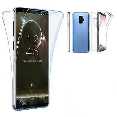 Pouzdro Uyumluluk Samsung Galaxy S9 Plus / S9 Yarı Saydam Tam Kaplama Kılıf Solid Yumuşak TPU için S9 / S9 Plus / S8 Plus