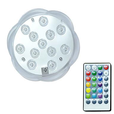 economico Applique per esterni-BRELONG® 1pc 3 W Luci subacquee Impermeabile / Controllato da remoto / Decorativo Colori primari 5.5 V Piscina 12 Perline LED