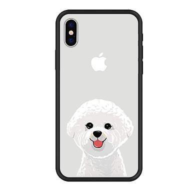 voordelige iPhone 5 hoesjes-hoesje Voor Apple iPhone XS / iPhone XR / iPhone XS Max Patroon Achterkant Hond / dier / Cartoon Hard Acryl